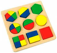 Дроби большие Мир деревянных игрушек (Д058)