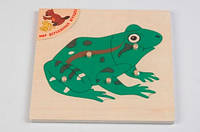 Пазл Лягушка Мир деревянных игрушек (Р 91)