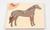 Пазл Лошадка Мир деревянных игрушек (Р 88)