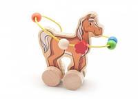Лабиринт каталка Лошадь Мир деревянных игрушек (Д364)