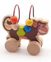 Лабиринт каталка Обезьяна Мир деревянных игрушек (Д357)