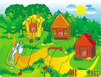 Рамка вкладыш Три поросенка 2 Мир деревянных игрушек (Р 38)