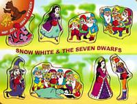 Рамка вкладыш Белоснежка и 7 гномов Мир деревянных игрушек (Р 37)