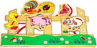 Шнуровка Домашние животные Мир деревянных игрушек (Р128)