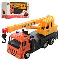 Машинка 6510A мет , інерц , кран, рухомі деталі, гумові колеса, кор , 16,5-9-6 см (BOC100534)
