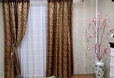 """Готовый комплект штор """"Ричард""""  коричневый + тюль 3м, фото 3"""