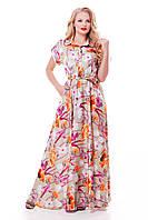 Элегантное длинное платье Алена цветочная, фото 1