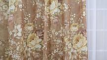 """Готовый комплект штор """"Прованская роза"""" коричневые, фото 3"""
