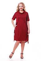 Платье женское Берта бордо, фото 1