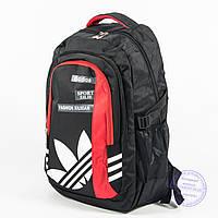 Спортивний рюкзак Адідас - чорний - 8186