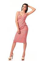 Платье майка. Цвет Коралл полоска, фото 1