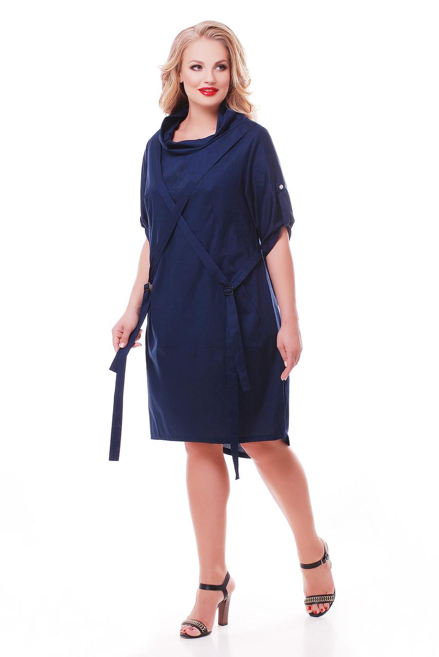 Платье женское Берта синее