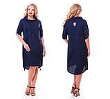 Платье женское Берта синее, фото 4
