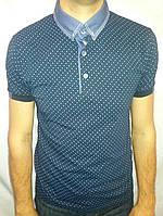 Мужская футболка воротник FIBAK супер цвет