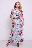 Платье макси Майя р. 56 голубой