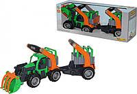 ГрипТрак трактор-погрузчик с полуприцепом для животных (37398)