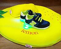 Детские кроссовки со светящиеся подошвой Турция 22-30р