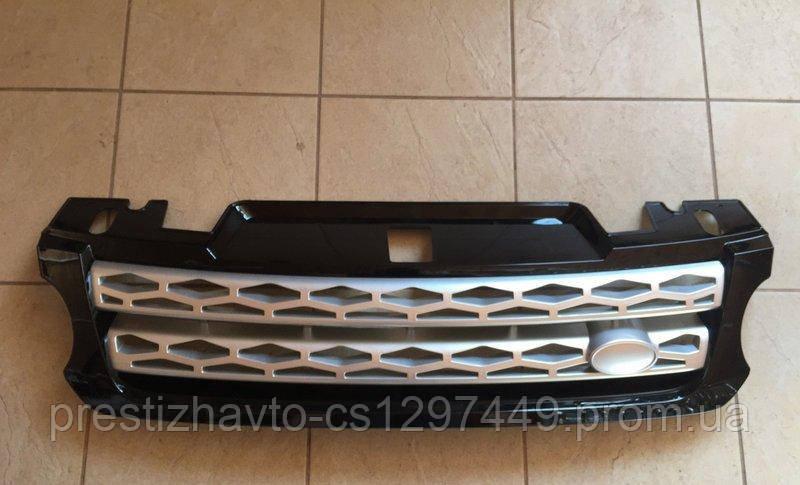 Решетка на Range Rover Sport (2013-...) (черная с серой сеткой)