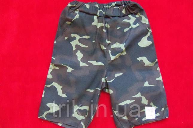 Шорты для мальчика с карманами камуфляжные рипстоп, фото 2