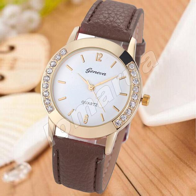 Женские часы Geneva diamond Brown