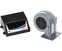 Комплект автоматика и турбина  для твердотопливного котла KG Elektronik SP05 LED + DP02