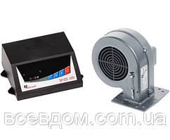 Комплект автоматика і турбіна для твердопаливного котла KG Elektronik SP05 LED + DP02