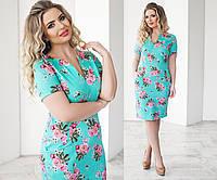 Женское летнее платье с карманами больших размеров в разных цветах летний джинс