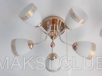 Люстра, 5 ламп, золото