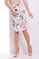 Нарядная летняя миди юбка по фигуре Цветочки юбка мод. №14 Оригами