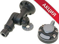 Поворотно-наклонный узел, монтажная площадка d60 мм и монтажный набор для закрепления на жесткий борт (комплек