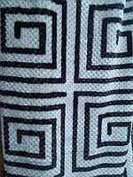 Микрофибра простынь пупырышки евро Черно-белая