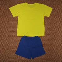 Костюмчик жовто-блакитний футболка и шорты р.110-116
