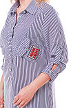 Рубашка женская Стиль черно-белая, фото 4