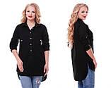 Рубашка женская Стиль черная, фото 3