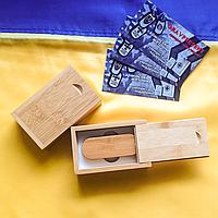 Деревянная USB флешка в коробочке 16 Gb., фото 1