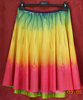 Юбка-клеш из хлопка купонной  расцветки Solar, фото 1