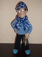 Интерьерная  авторская текстильная кукла ручной работы Смотритель маяка