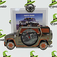 Фоторамка с часами Машина