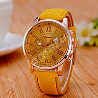 Женские часы Geneva Platinum Mustard