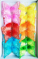 Бабочки декоративные (12 см, 12 шт)