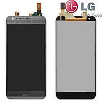 Дисплейный модуль (дисплей + сенсор) для LG X Cam K580, серый, оригинал