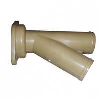 СЗМ-4-01.303 Трубка грядиля сошника на два семяпровода (тройник пластмас.) СЗМ-4 (Велес-Агро)