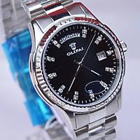 Мужские кварцевые водостойкие наручные часы OLIPAI JT9029-SD-B Silver, фото 1