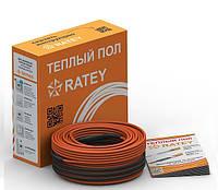 Теплый пол RATEY TIS 0,12, 7 м. (двухжильный нагревательный кабель)
