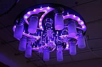 Люстра хрустальная, пульт LED