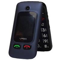 Телефон Sigma Comfort 50 Shell Dual Duo Blue (бабушкофон) '''''
