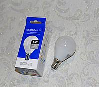 Лампа светодиодная GLOBAL LED, MAXUS. А50 5W Е14, яркий свет