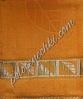 """Полотенце сауна """"Листики"""" (оранж), фото 1"""