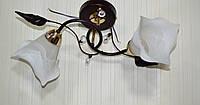 Люстра, стекло, 2 лампы, фото 1