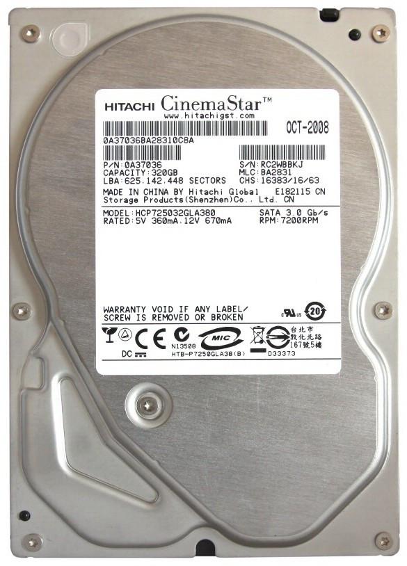 Жесткий диск (HDD) Hitachi 320GB